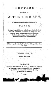 Letters written by a Turkish spy