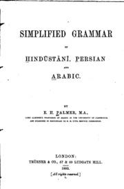 Simplified grammar of Hindūstānī, Persian and Arabic