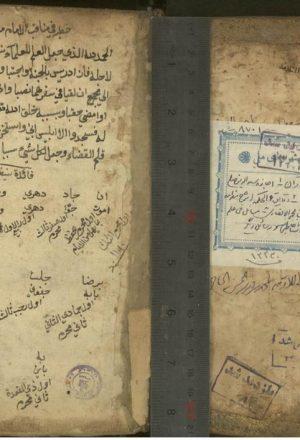 الدقائق المحكمه في شرح المقدمه؛زكريابنمحمدبناحمد انصاري شافعي (925ق)