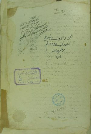 شرح صحيح مسلم (الجزء الأول)
