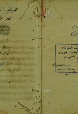 مختصر مغني اللبيب عن كتب الاعاريب لابن هشام النحوى