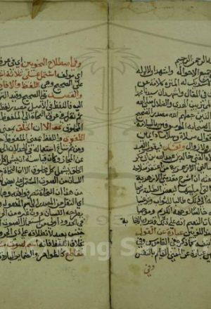 شرح المقدمة الازهرية في علم العربية وكلاهما