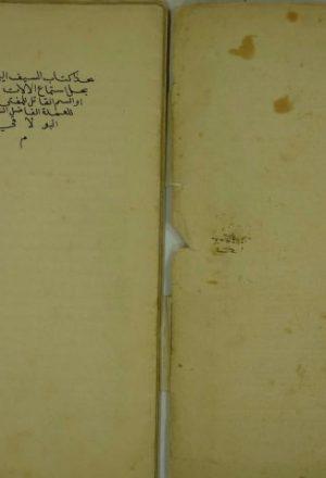 مجموع كتابين أولهم : السيف اليماني لمن قال بحل استماع الآلات والمغاني
