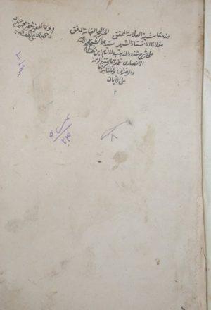 حاشية العلامة المحقق محمد الأمير على شرح شذور الذهب