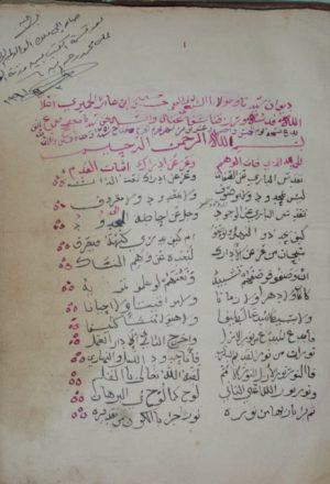 ديوان حسين بن عامر الحميري