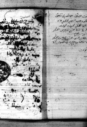 مجموعة في مجلد أولها: شرح الشيخ عبد الرحمن البناني على قصيدة سيدنا هود