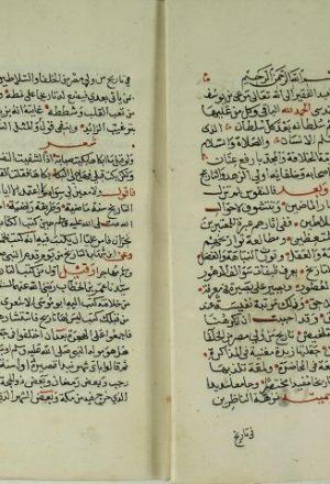 مخطوطة - نزهة الناظرين في تاريخ من ولي مصر من الخلفاء والسلاطين