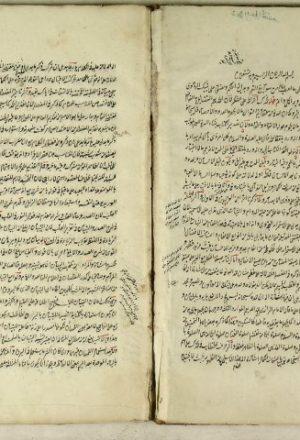مخطوطة - حاشية على حاشية الخطائي على شرح التلخيص المختصر من المطول للتفتازاني على تلخيص القزويني لمفتاح العلوم للسكاكي