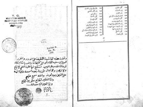 مخطوطة - حاشية على درر الحكام شرح غرر الأحكام لملا خسرو