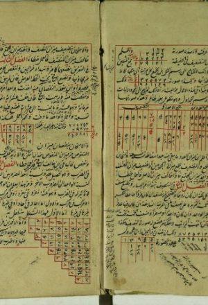 مخطوطة - رسالة في الحساب والجبر