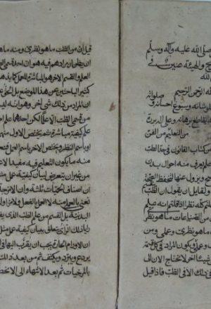 مخطوطة - القانون في الطب ـ التشريح
