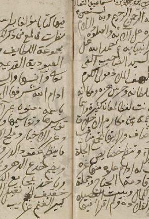 مخطوطة - مرآة المروات للثعالبي