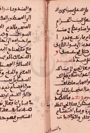 مخطوطة - هداية السالك المحتاج الى بيان المعتمر والحاج للحطاب المالكي
