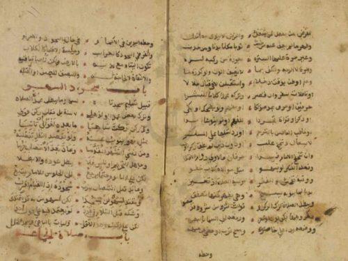 مخطوطة - الفية صفوة الزيد في فقه الشافعي لابن رسلان