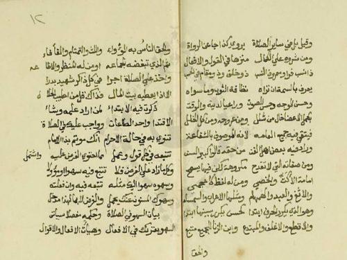 مخطوطة - نظم الرقعي