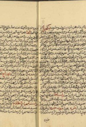 مخطوطة - نهاية الارب فى شرح لامية العرب للأزهري