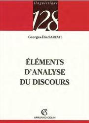 Eléments D'analyse Du Discours