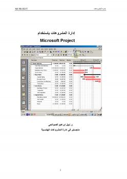 إدارة المشروعات باستخدام Microsoft Project