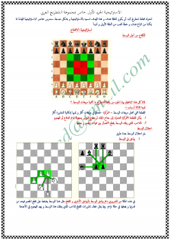 استراتيجية الشطرنج الجزء الأول