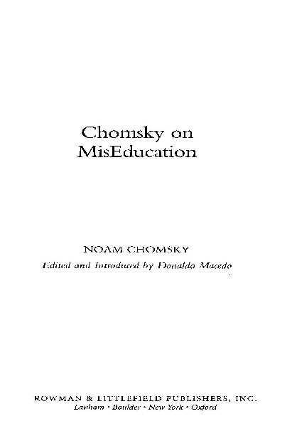 Chomsky on