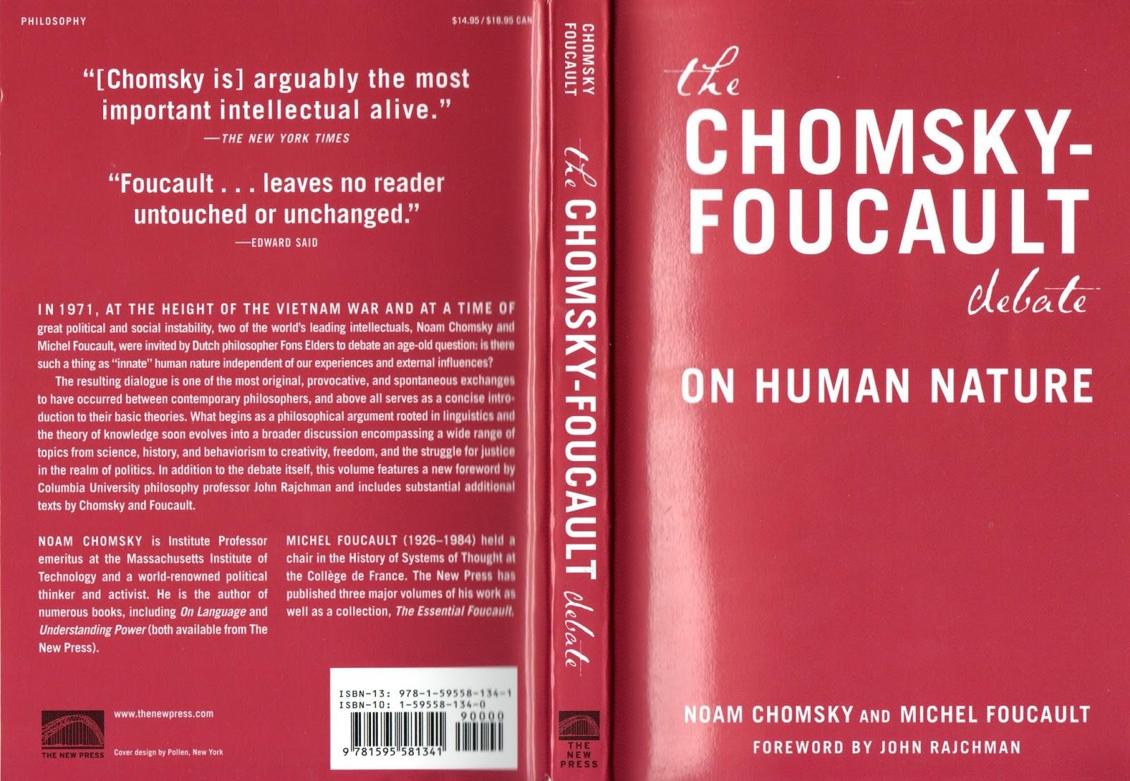 The Chomsky-Foucault debate on Human